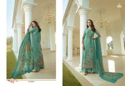 Vivek Fashion Firoza Viscose Georgette Digital Printed With Embroidery Work - 11905
