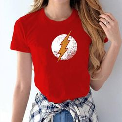 Female Casual T-shirt - Red - Flash - XL