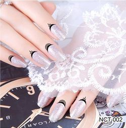 Temporary Tattoo Nail Edge Stickers for 20 finger - BG_NCT-002