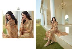 Vivek Fashion Firoza Viscose Georgette Digital Printed With Embroidery Work - 11906