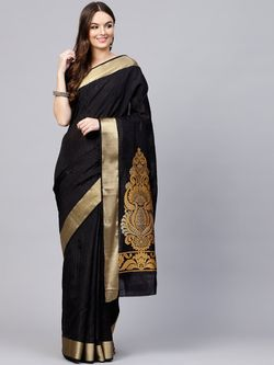 Fashionable Silk Saree with blouse piece for women-A