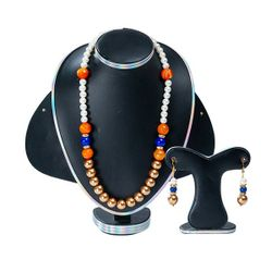 Multi Color Stone Pearl Handmade Jewellery Set For Women(JS_31)