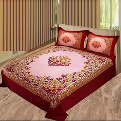 King Size Panel Cotton Bed Sheet