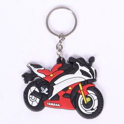 YAMAHA BIKE PVC Keychain Key ring Red Rubber Motorcycle Bike Car Collectible Gift New (3 Pcs) - WAR