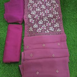 Weight Less Georgette Embroidery 3 Pcs