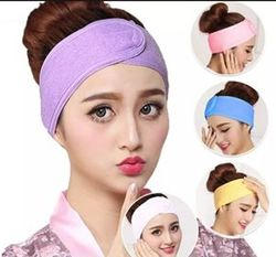 Bath Makeup Hair Wrap Toweling Head Band Salon SPA Facial Beauty Wash Tools Adjustable Elastic Stretch