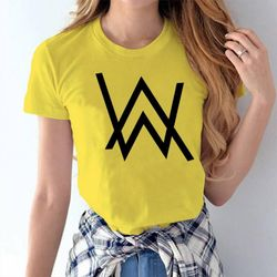 Female Casual T-shirt - Yellow - Allan Walker - L