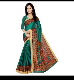 Mayshury Silk Saree - 18 - Light Sea Green with Gold and Orange Mix Paar-AMI1869-D87C 9474 1A00