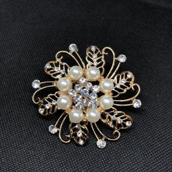 White Large Brooch-DNM2741-F17X 8384 1A00