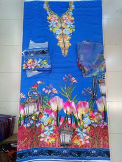 Indian Unstitched Printed 2 Pcs - BB1 - 7BB