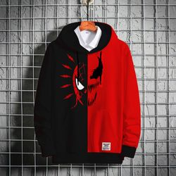 Stylish Premium Winter Hoodie - Black & Red - Spider-Man