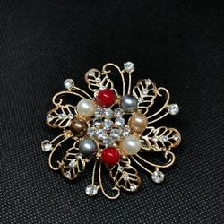 Multi Color Large Brooch-DNM2744-F17X 8387 1A00