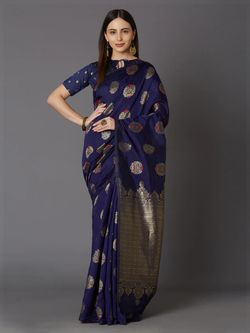 Latest Designed Luxury Exclusive Silk Saree With Blouse Piece For Women