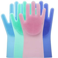 High Quality Silicone Dish Washing Kitchen Hand Gloves