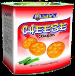 Julie's Cheese Crackers Biscuit - TIN - 700 gm