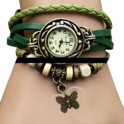 Artificial Leather Bracelet Analog Watch for Women - 1-SBE
