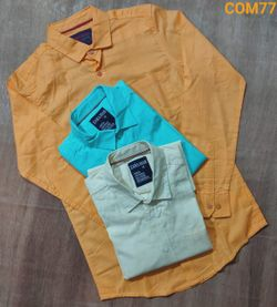 Full Sleeve Cotton Shirt - Combo of 3