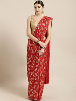 Fashionable Silk Saree with blouse piece for women-D