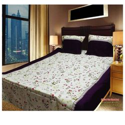 Double Size Cotton Bed Sheet with 2 Pillow Covers - Multicolor
