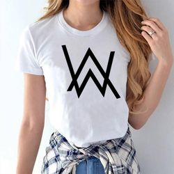 Female Casual T-shirt - White - Allan Walker - M