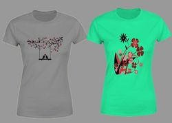 Women's Half Sleeve Trendy T-shirt - Combo - 6