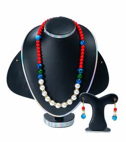 Multi Color Stone Pearl Handmade Jewellery Set For Women(JS_30)