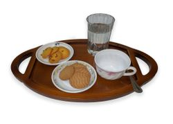 Decorative coffee & cookie serving tray - Tray-04 - 8RUL