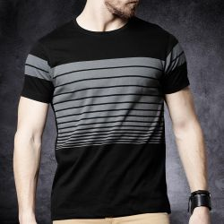 Premium Quality Half Sleeve T shirt for Men - Black