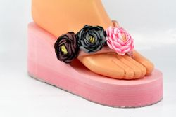 38 - Ladies Balance Shoes - Pink with Cotton Flower - 1018BFS15-TNC3348-J79W 8916 1A00